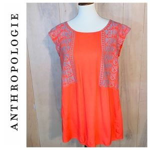Anthropologie THML Boho Chic Embroidered Dress